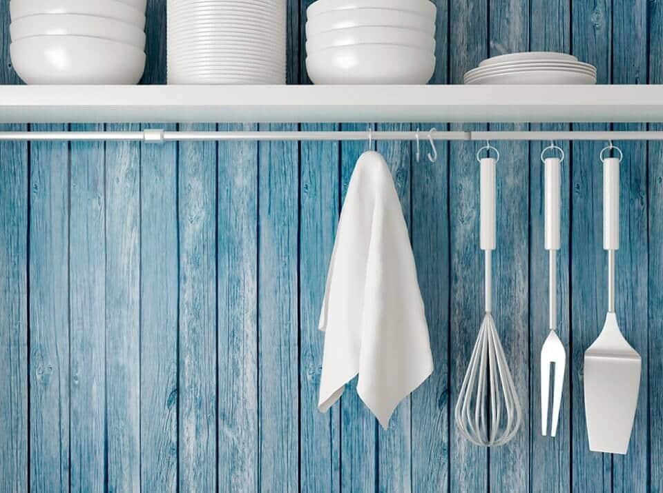 Paredes azul niagara para a cozinha
